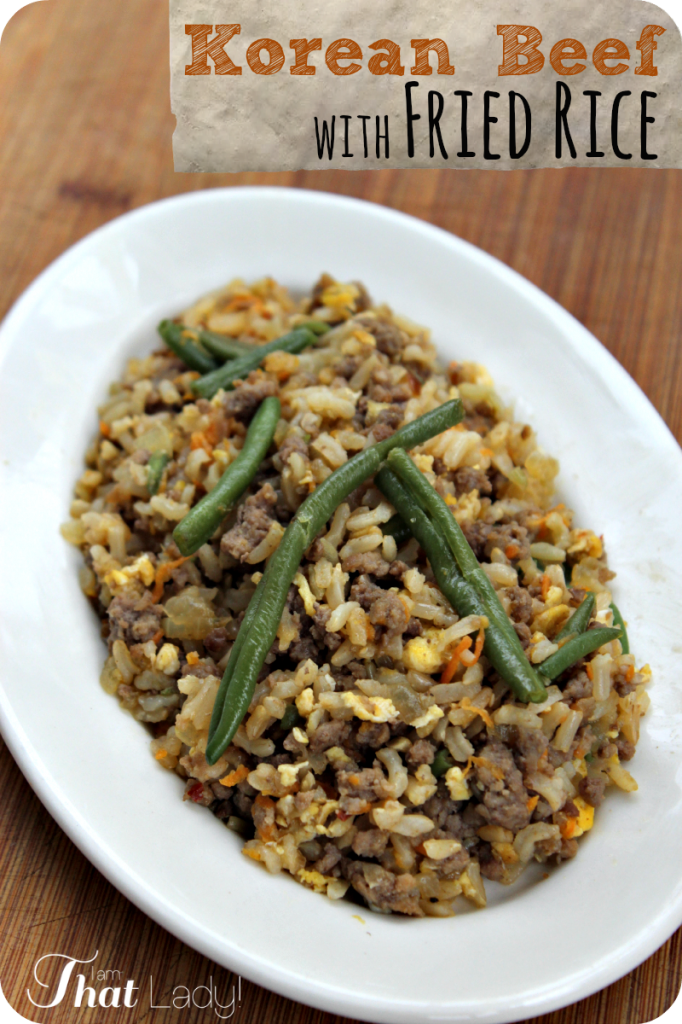 Looking for something a little different tonight that the whole family will LOVE? Then you need to check out this Korean Beef with Fried Rice. It seriously tastes AMAZING - all 4 of my picky eaters ate this up no problem!