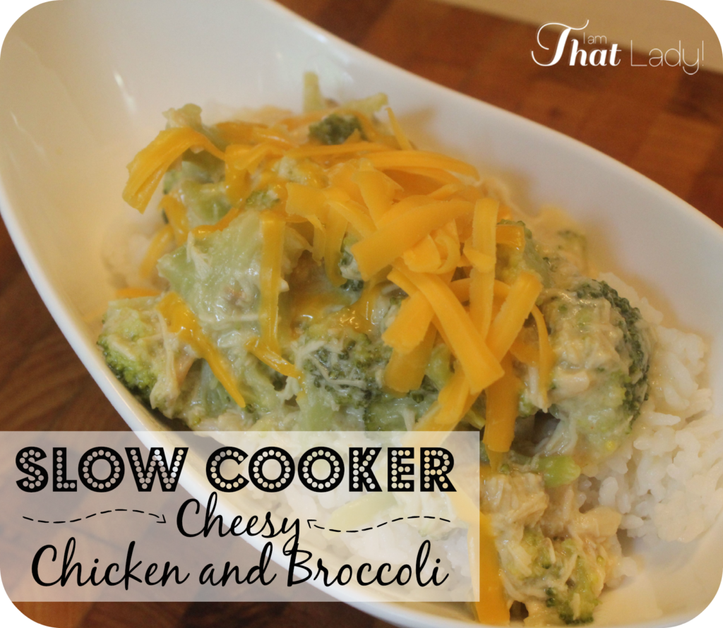 Try this super easy slow cooker - cheesy chicken and broccoli dish!