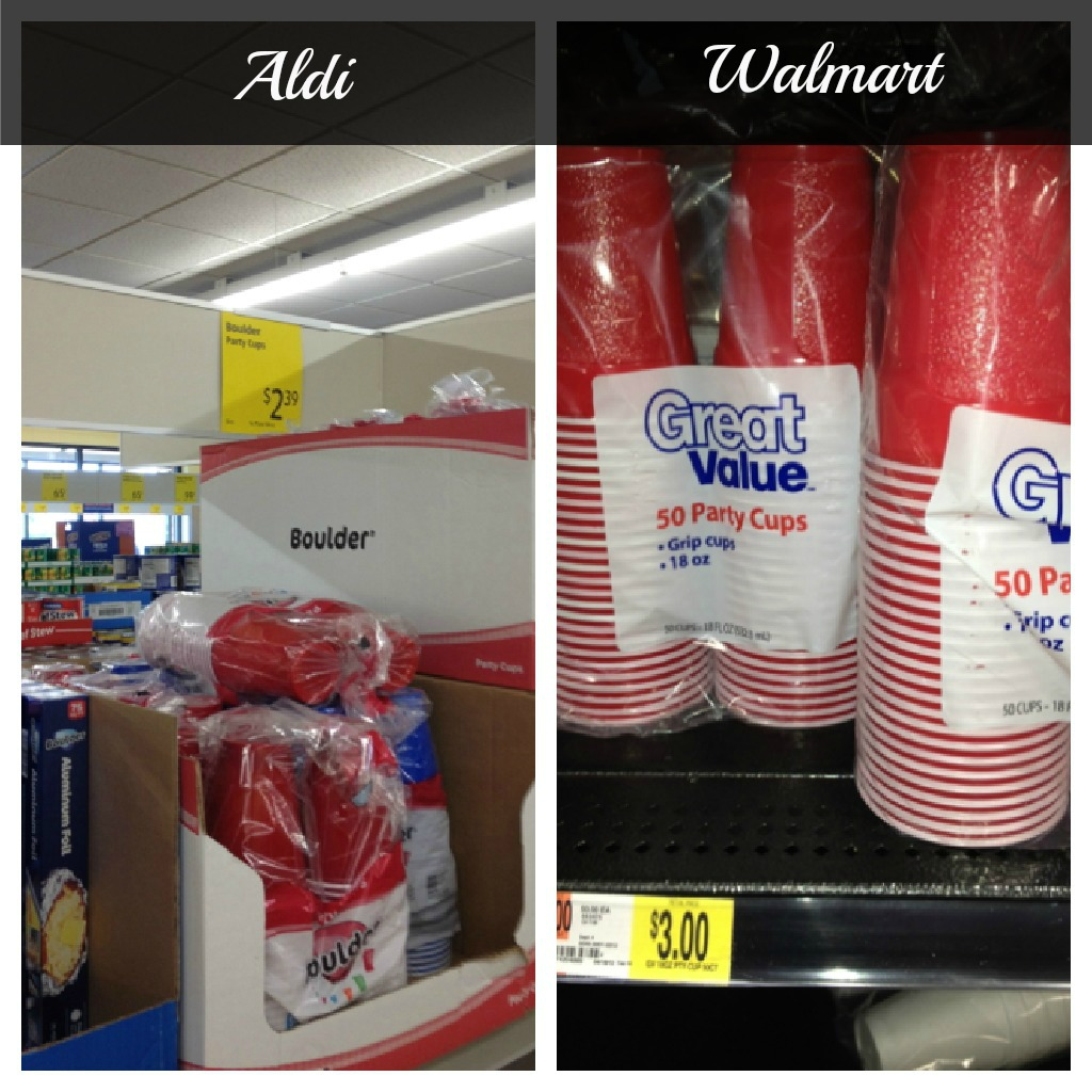 Paper Plates & Aldi vs. Walmart - which one is really less expensive than the other ...