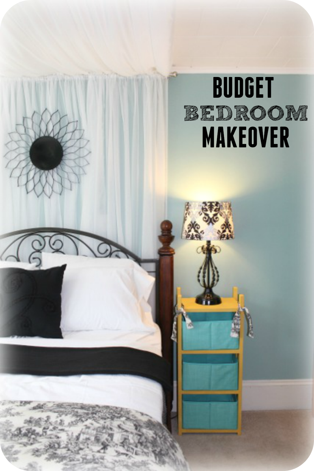wondering how to decorate your bedroom for less here is a beautiful bedroom makeover for