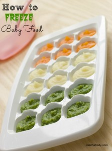 how to freeze baby food