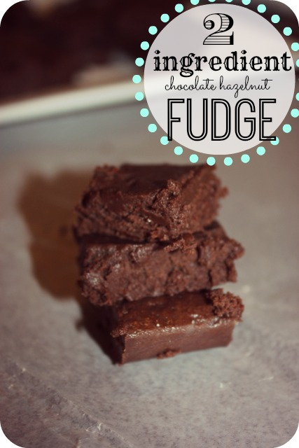 Are you looking for an easy fudge recipe that cannot fail - check out this 2 ingredient chocolate hazelnut fudge recipe. It is always a hit!