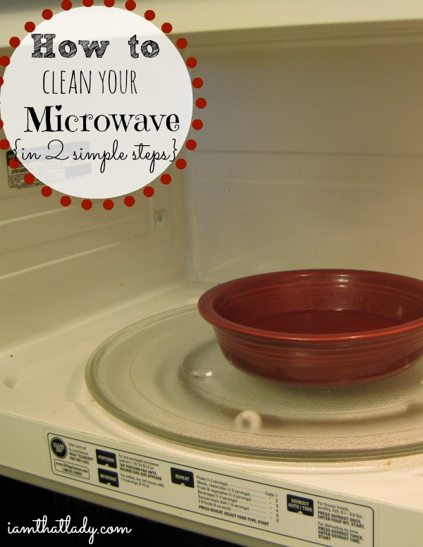 Is your microwave covered in yucky food?  Here is how to clean your microwave in 2 simple steps