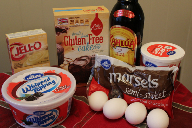 These are the ingredients to make a Kahlua and Creme Trifle #shop