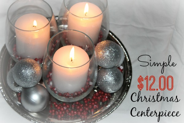 This simple and easy Christmas Centerpiece was only $12.00 to make!  It is the perfect centerpiece to any Christmas Table.  Get a turtorial on how to make it by clicking on the picture.
