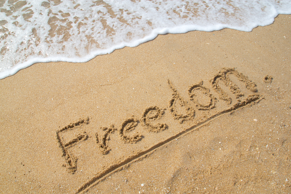 Freedom in being debt free