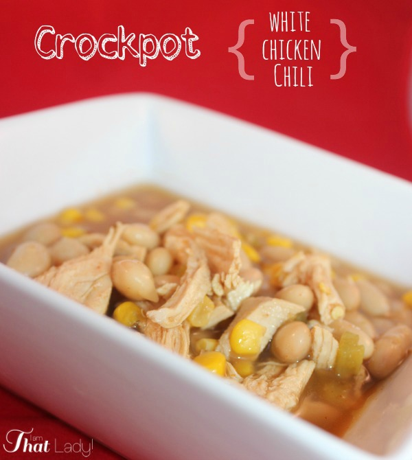 Looking for a super quick meal in your crockpot? This takes just 5 minutes to prepare, let it cook for 3 hours, and you have an amazing white chicken chili!