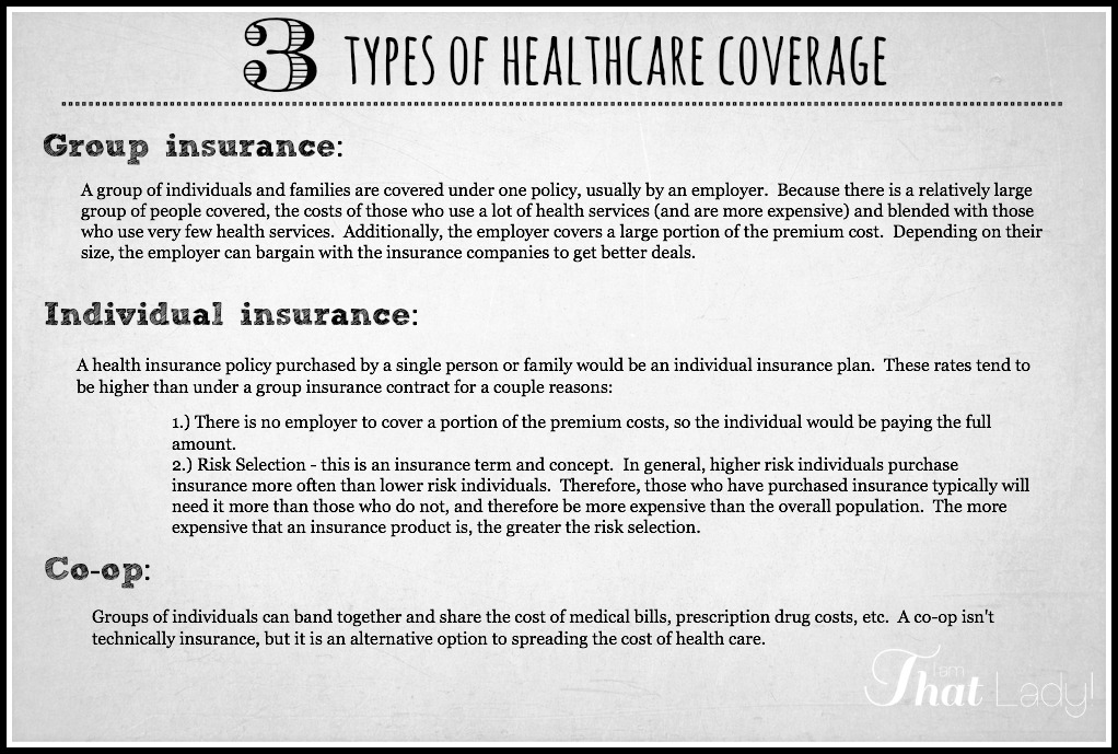 The 3 different types of health insurance