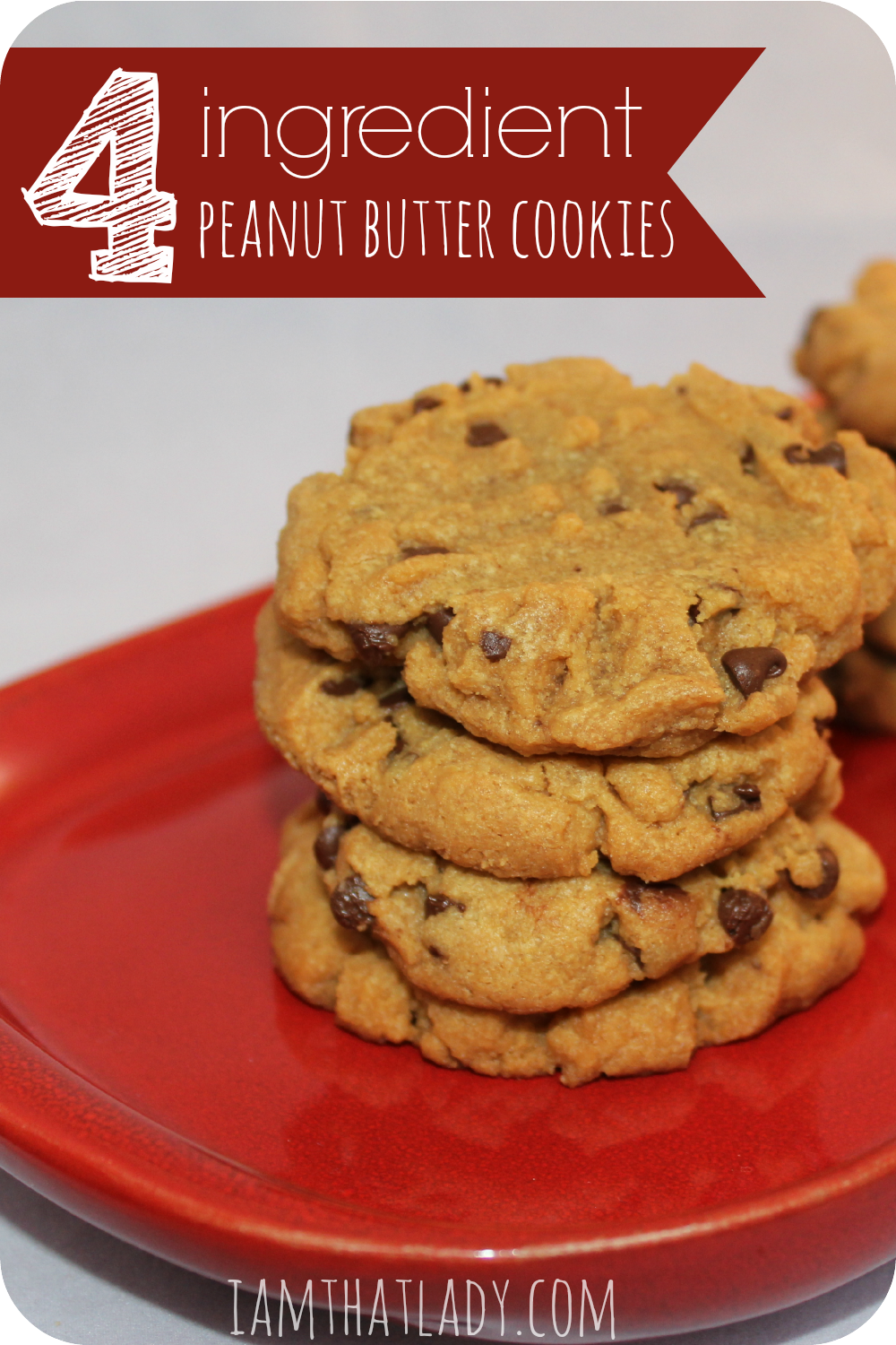 Are you looking for some simple cookies Here is an easy 4 ingredient peanut butter cookie recipe. It is gluten and grain free too!