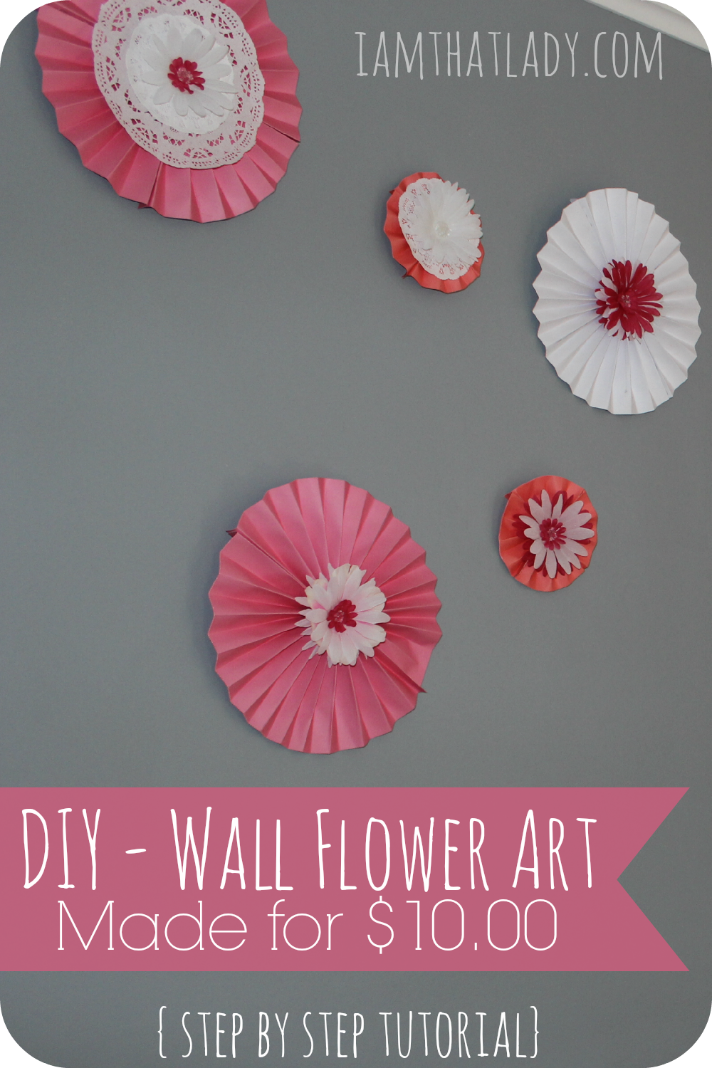 Are you looking for an inexpensive way to spruce up a wall in your home? These DIY Wall Flowers are made from scrapbook paper and are super fun to create! Here is the tutorial!