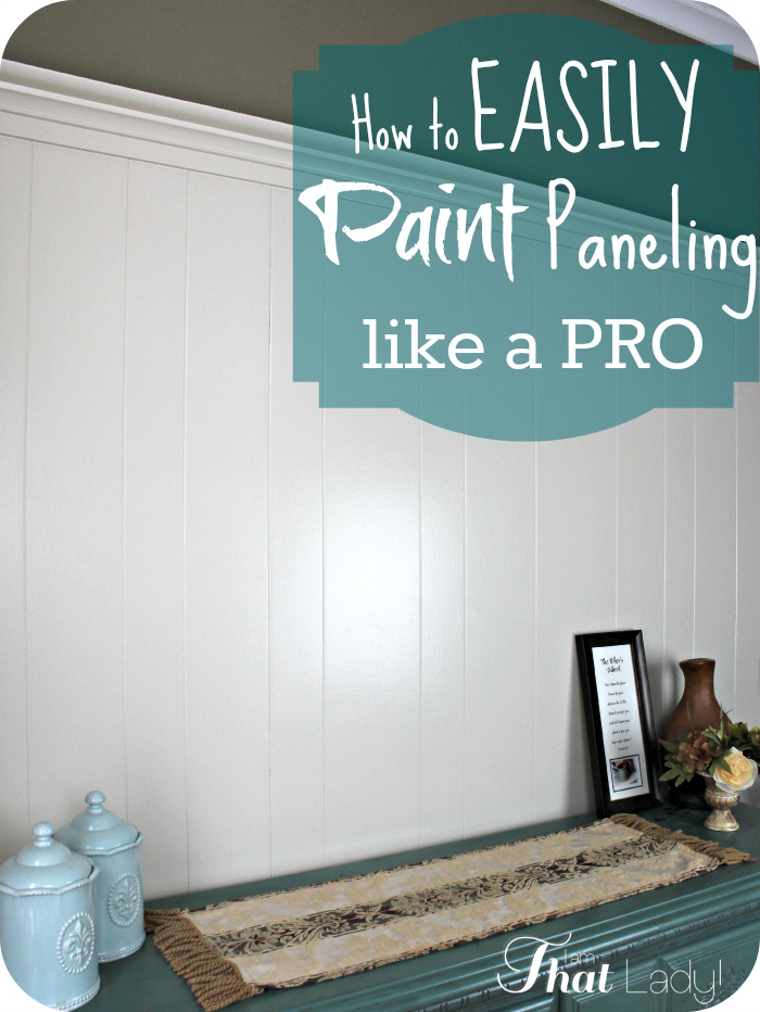 How to easily paint paneling like a pro you can cover How to disguise wood paneling