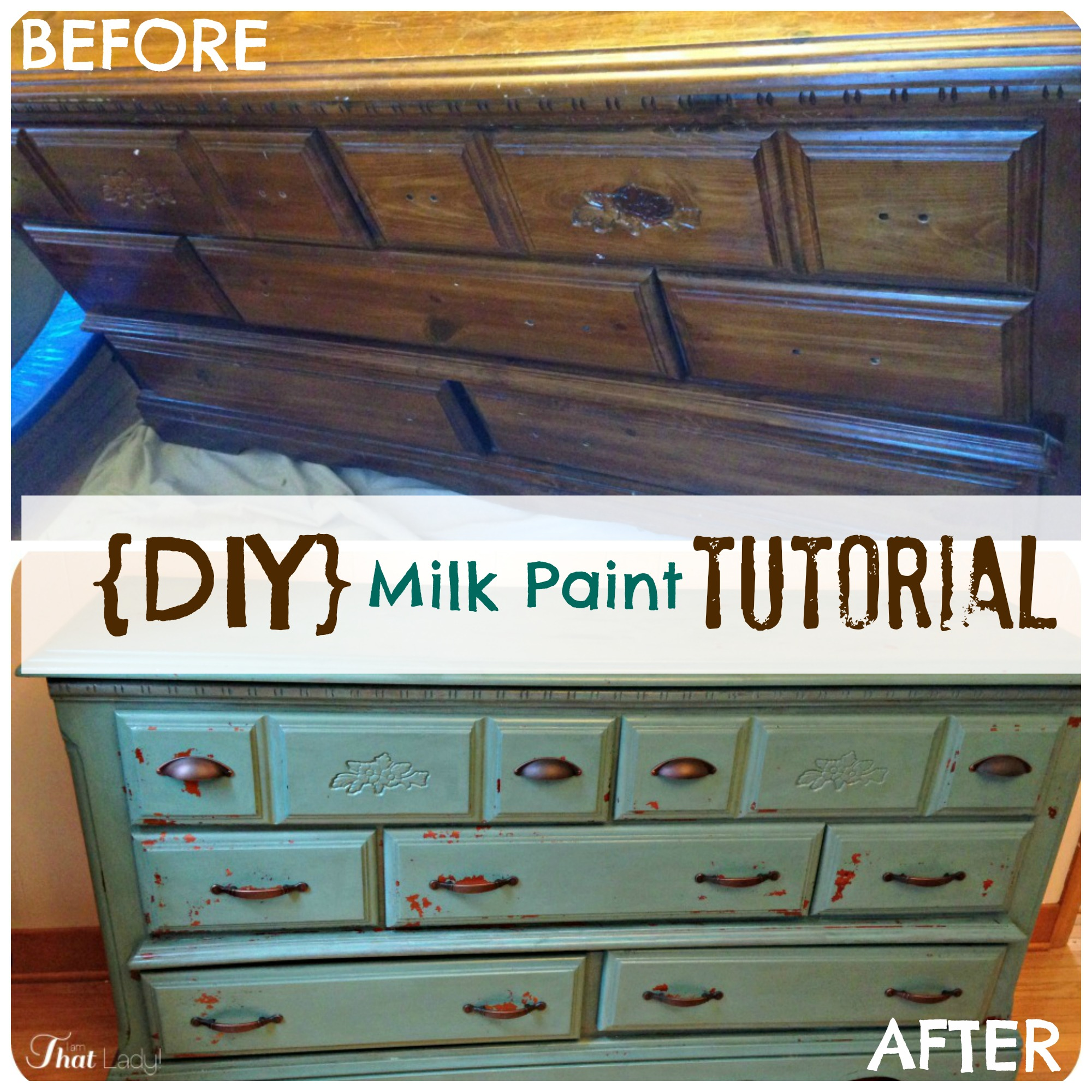 I found this $30 dresser at a thrift store, it needed some TLC so I used milk paint to give it a whole new look! Come and see how to easily refinish a piece of furniture with milk paint.