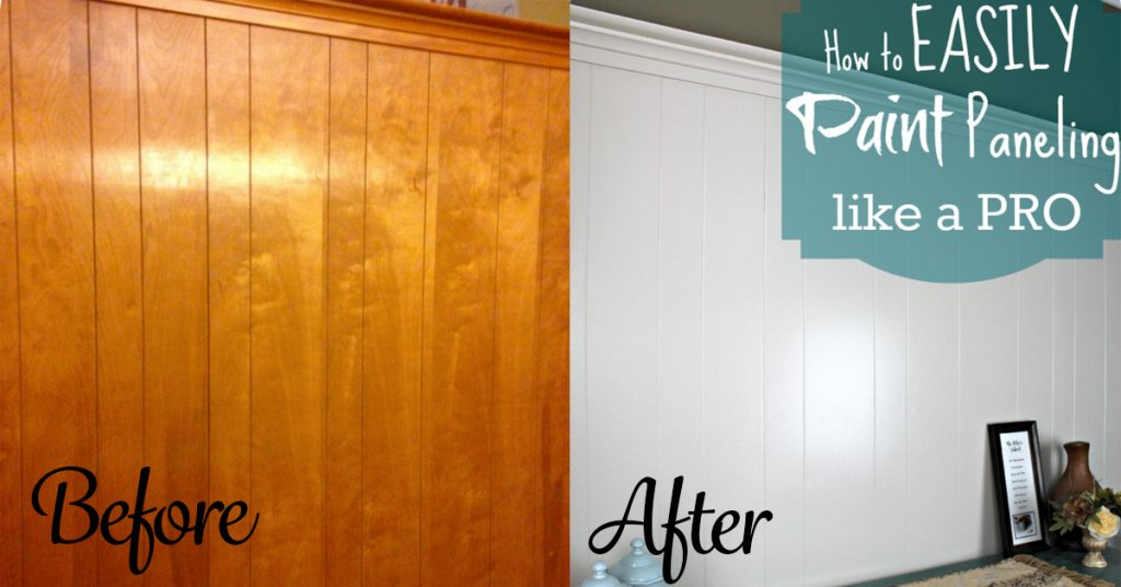 Paint over wood paneling How to disguise wood paneling
