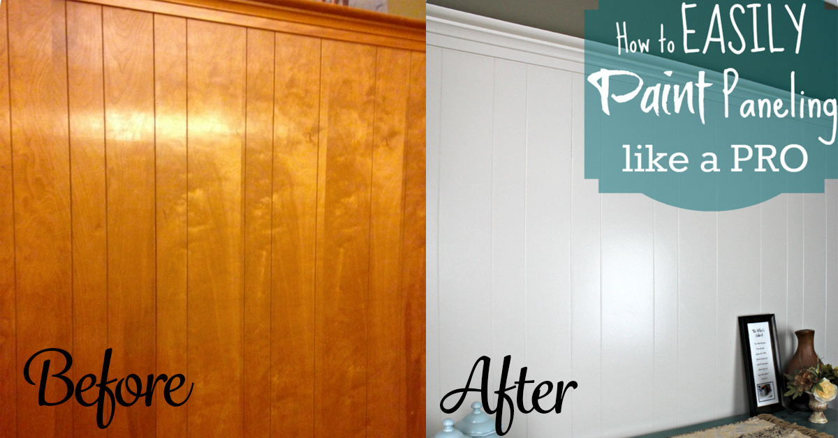 DIY Home Repair Hack: Easily Paint Over Wood Paneling - Wood Paneling Painted WB Designs