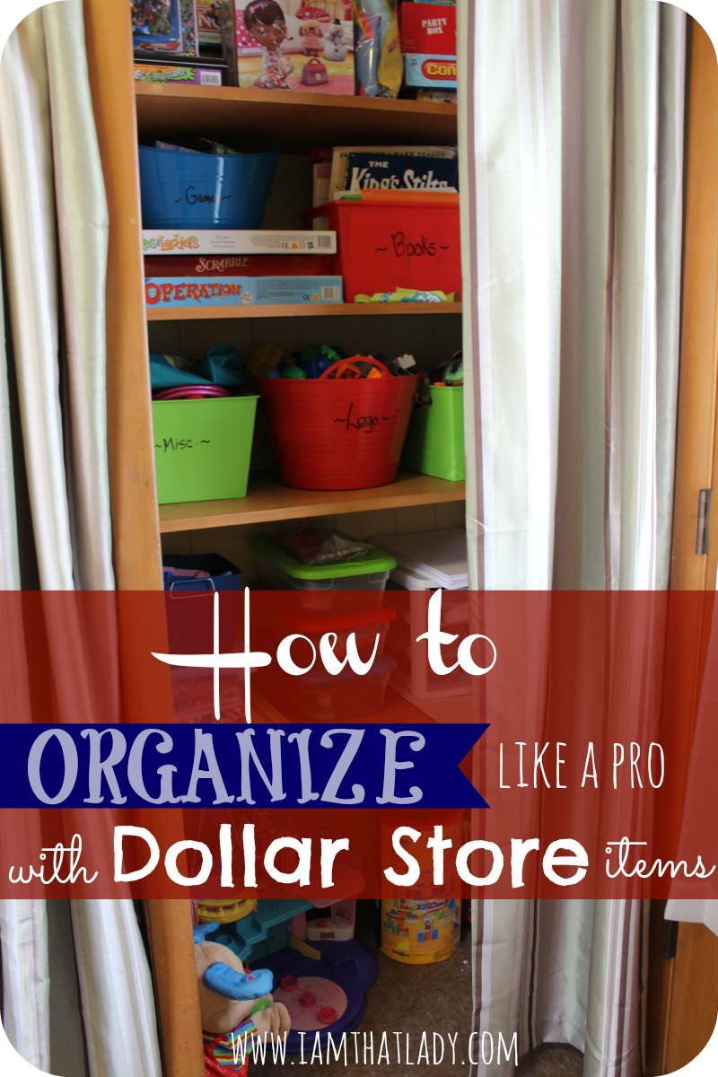 How to organize cheap for Dollar store items online