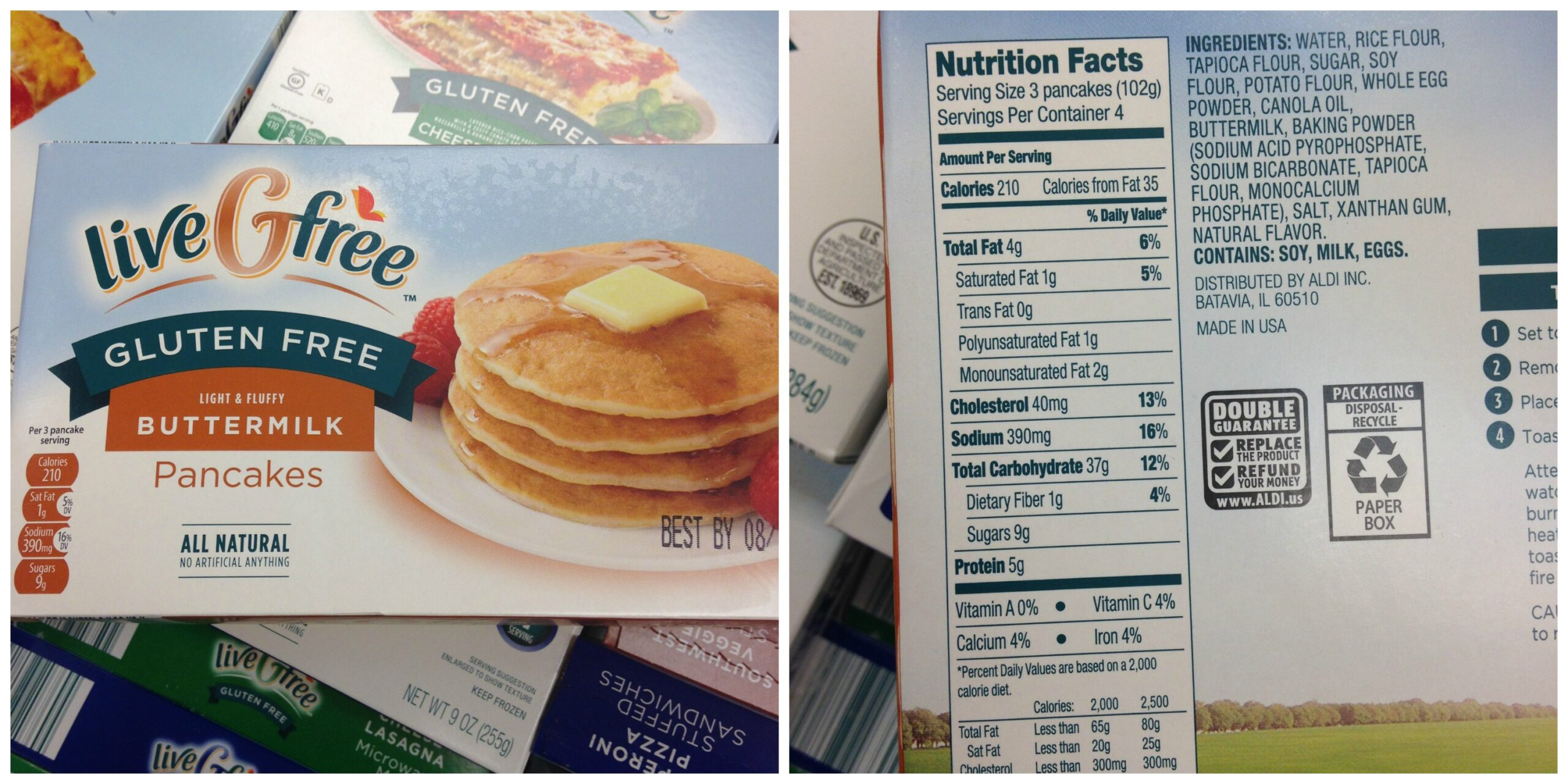 Aldi S New Gluten Free Products And Nutritional Information