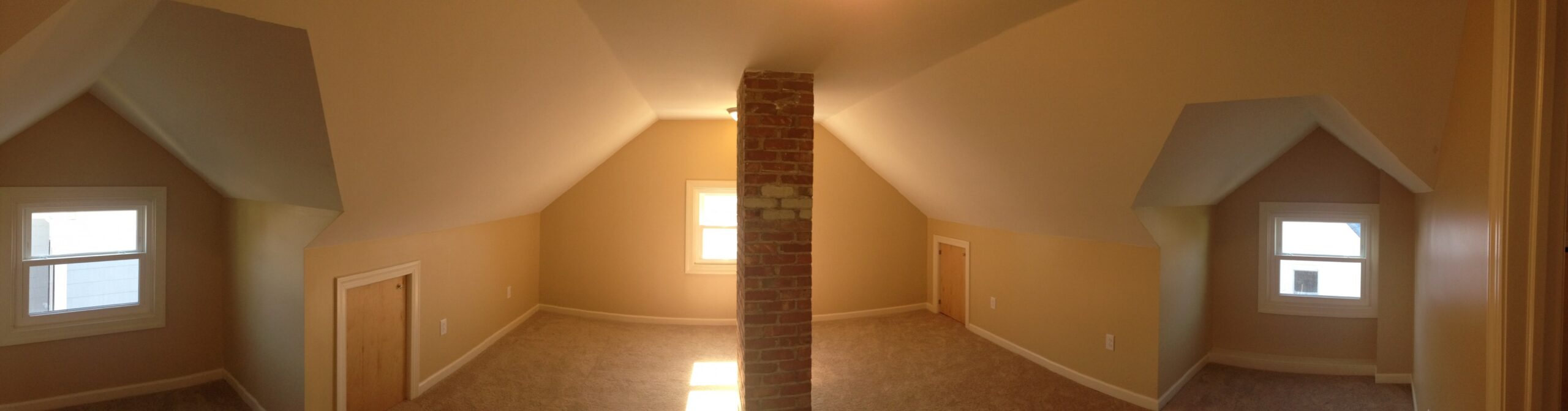 Check out how we renovated out ugly attic into an AMAZING 500 sq ft Office!