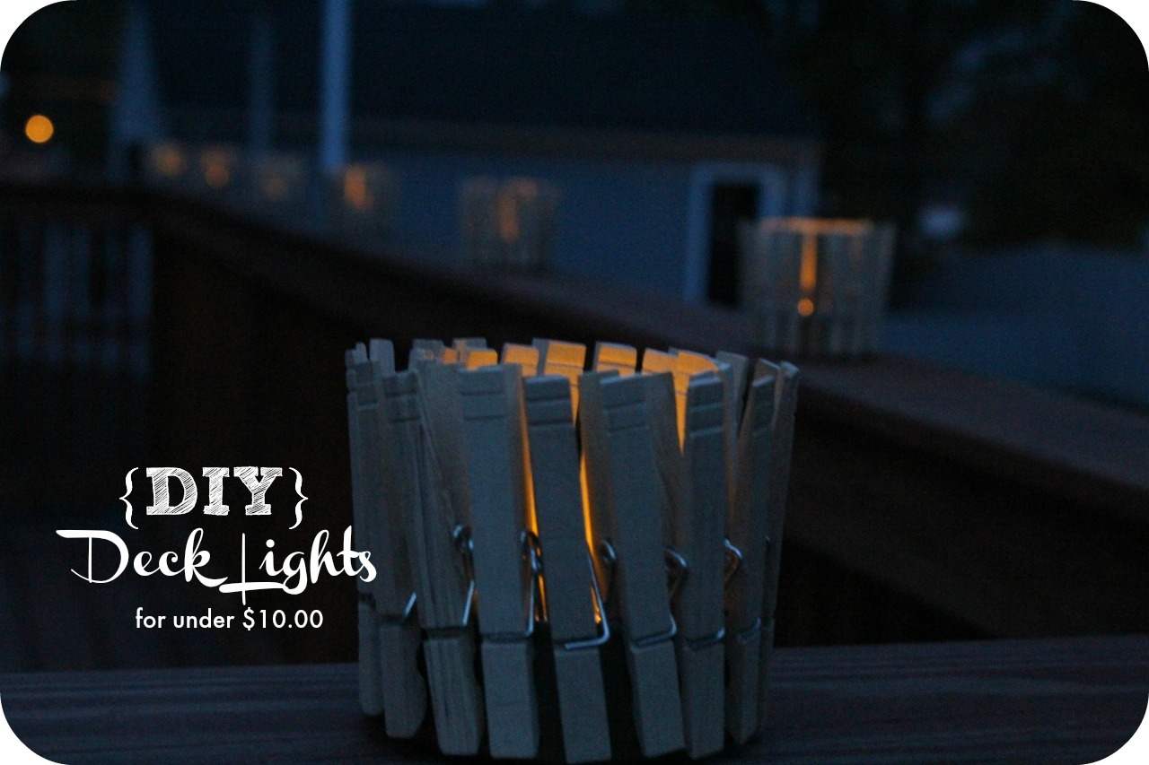 DIY} Outdoor Deck Lights for under $10.00 - Lauren Greutman on inexpensive patio lighting ideas, inexpensive basement lighting ideas, inexpensive kitchen lighting ideas,