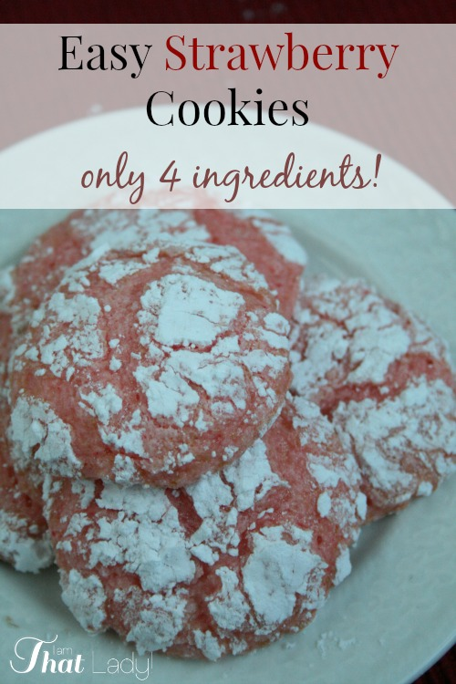 Make these easy Strawberry cookies with only 4 ingredients