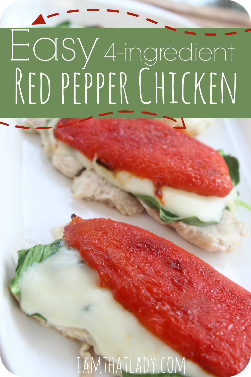 This 4 ingredient roasted red pepper chicken recipe is SO easy and delicious. With just 20 minutes you can whip this up using just 4 ingredients! A MUST TRY!!!!