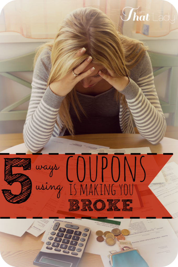 Are you sick and tired of spending too much money using coupons? Are you wondering why they aren't working for you? Then read the 5 ways using coupons is making you broke. Plus many more posts on how to save money on iamthatlady.com