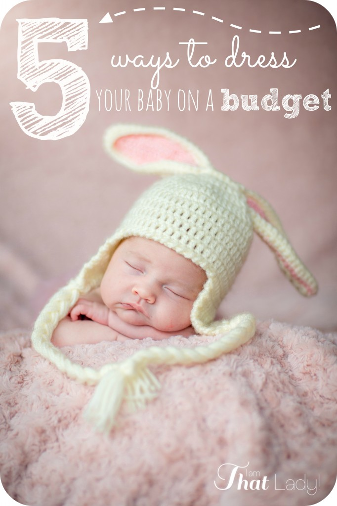 Are you having a new baby but are worried about how much money it will cost? Here are 5 ways to dress your baby on a budget.