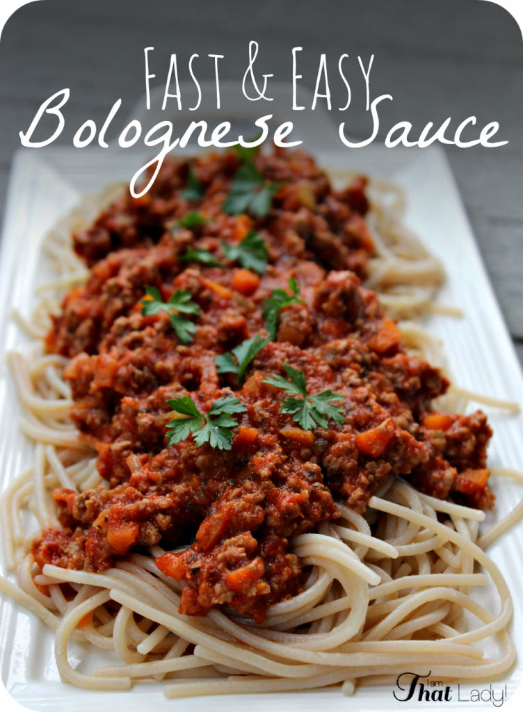Are you looking for a FAST and EASY Bolognese Sauce? Bolognese is such ...
