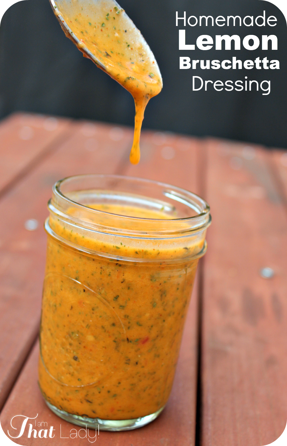 Homemade Lemon Bruschetta Salad Dressing Recipe