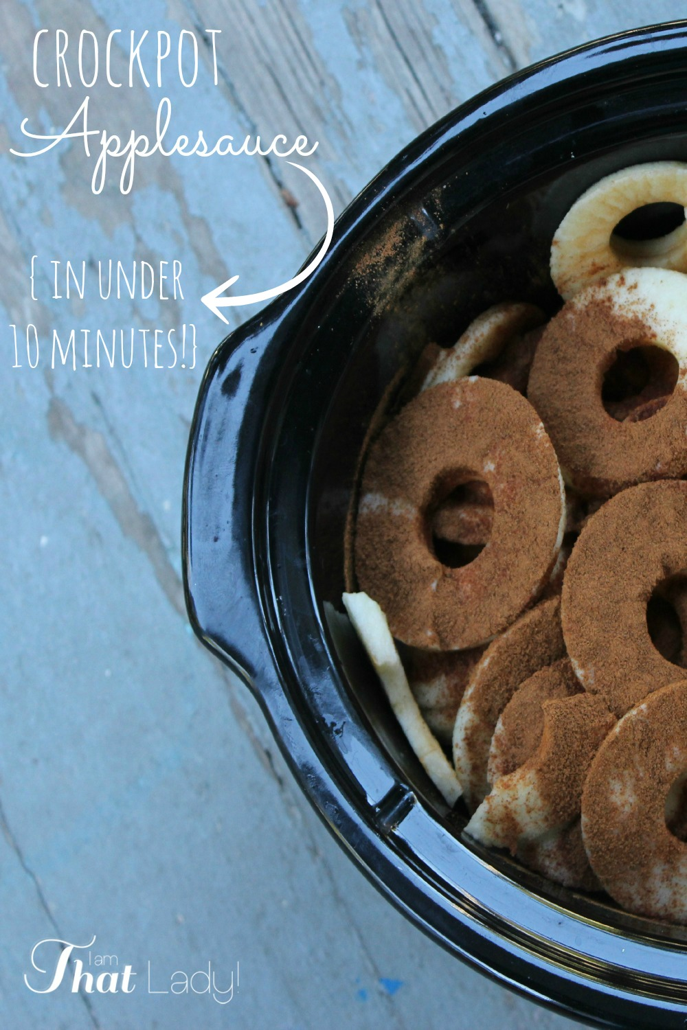 Are you wanting to make applesauce but you don't want to slave over a hot stove all day? Why not make this easy 10 minute crockpot applesauce.  It is so easy to make and you don't have to spend hours doing it! Head on over and take a peak!
