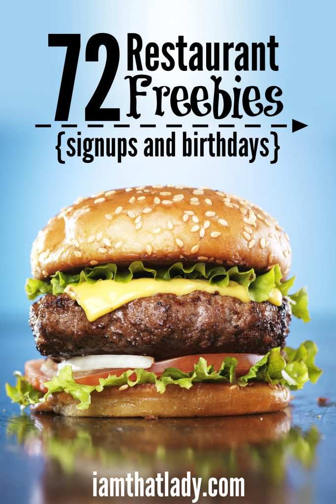 72 Restaurant Freebies