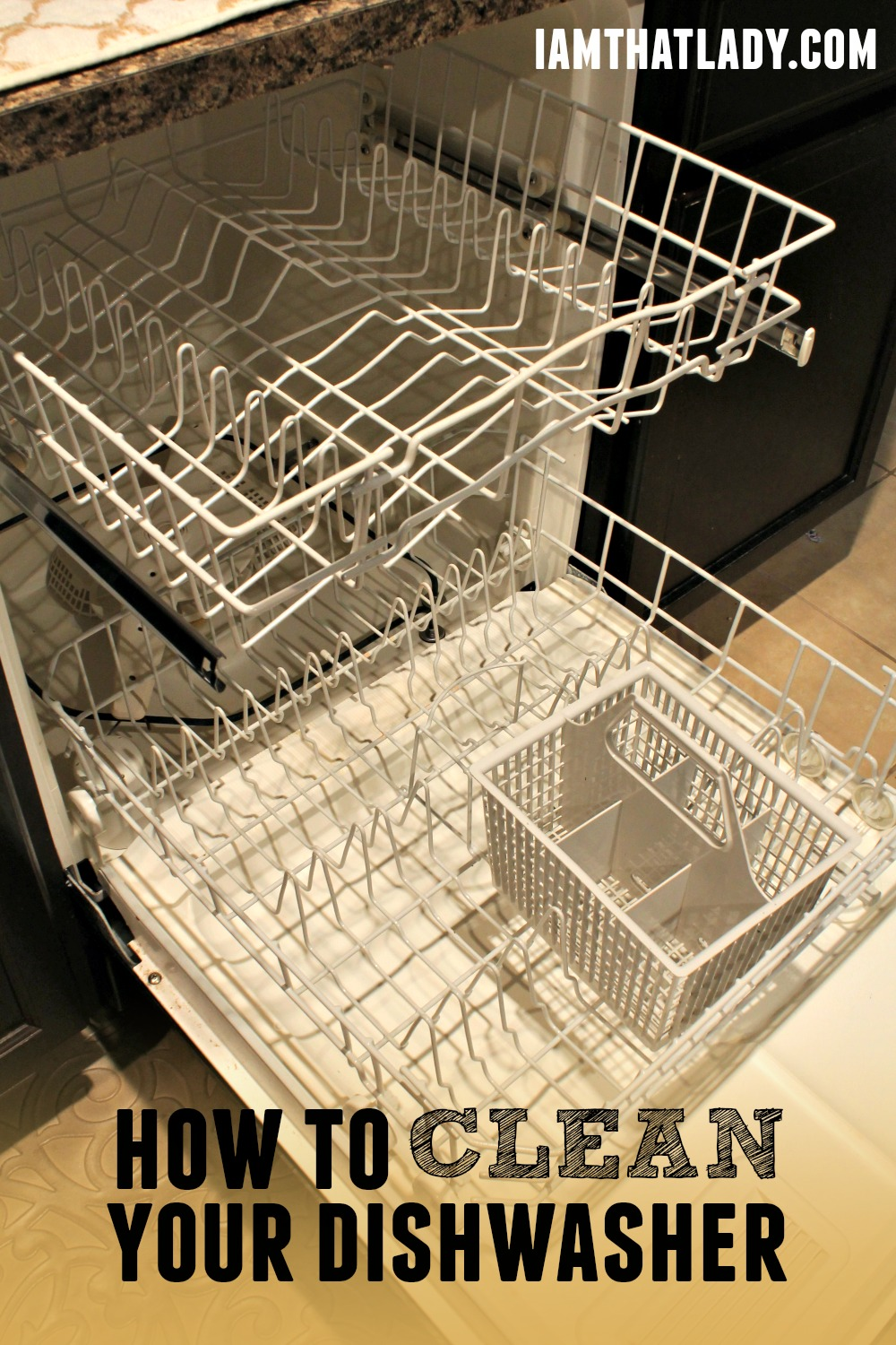Are you wondering How to Clean Your Dishwasher? Here is how you can do it in two simple steps!