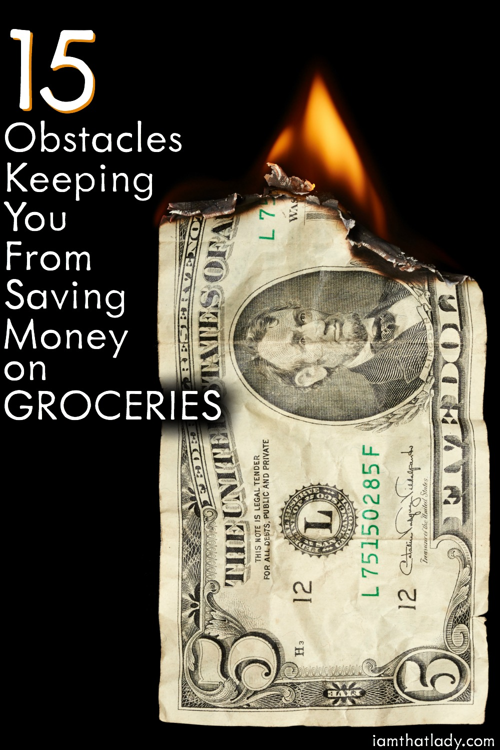 Food is expensive! But there are some simple things you can do to save a TON of money! Check out these 15 Obstacles keeping you from saving on groceries!