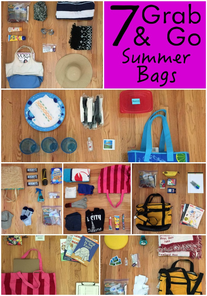 Looking to make more time for FUN this summer! These 7 Grab and go Summer Bags are a game changer for your schedule!