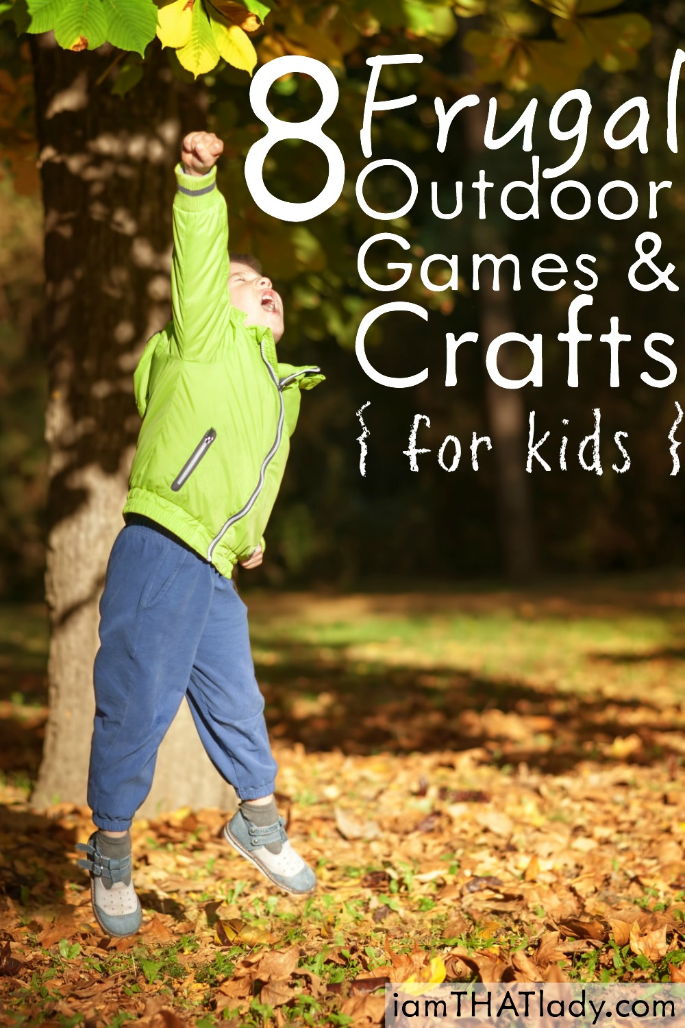 Looking for frugal ways to have fun with your kids outside? Check out these 8 FUN activities that you will all LOVE!
