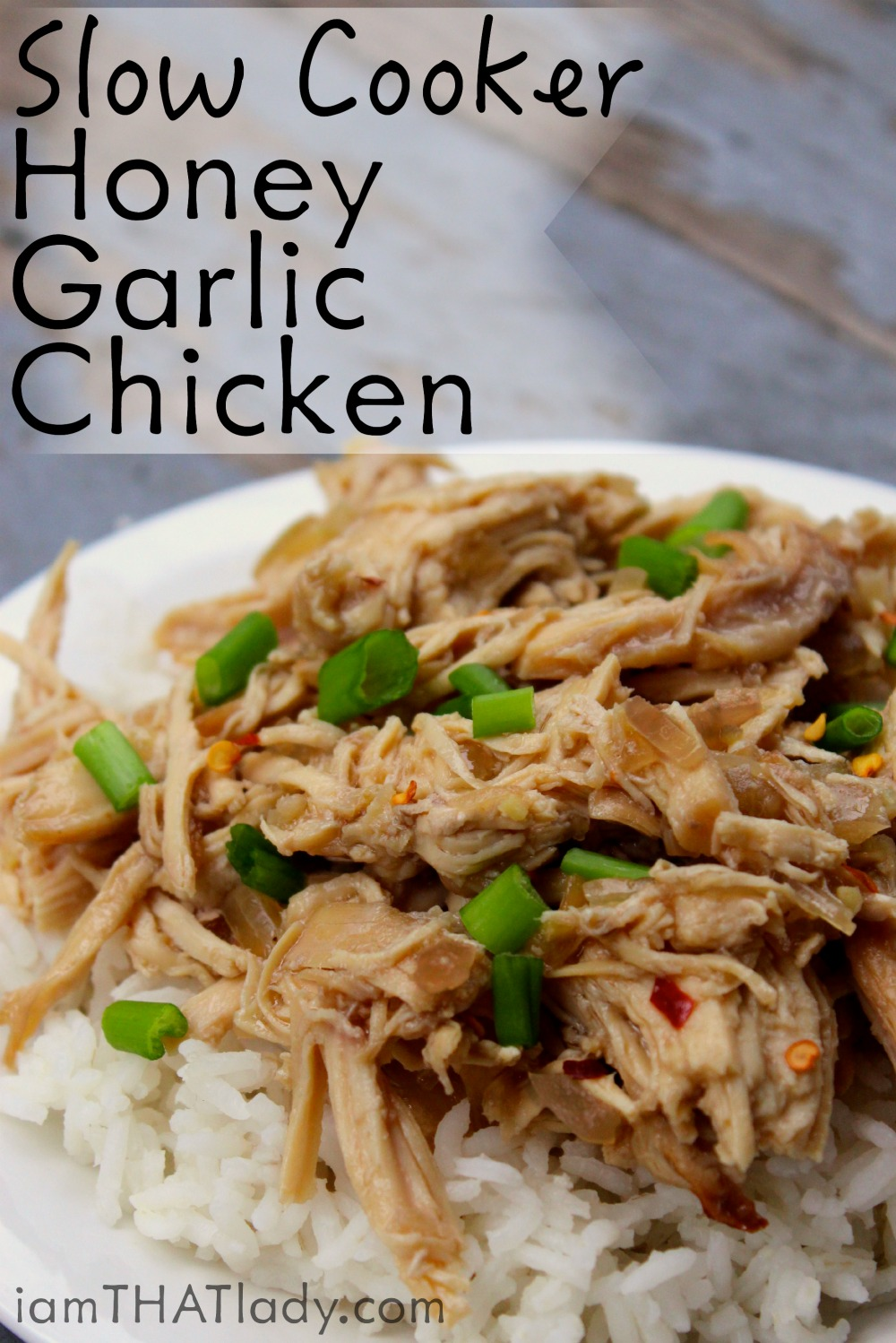 Slow cooker honey garlic chicken lauren greutman need something easy for dinner this slow cooker honey garlic chicken will be done in forumfinder Image collections