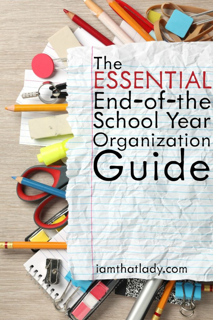 The end of the school year is such a rush. Everything is winding down and it's a time for relaxation (hopefully) and fun! By being proactive you can make the beginning of the next school year less stressful for yourself by doing some organization. Here are some organizational tips to try with all those school 'things.'