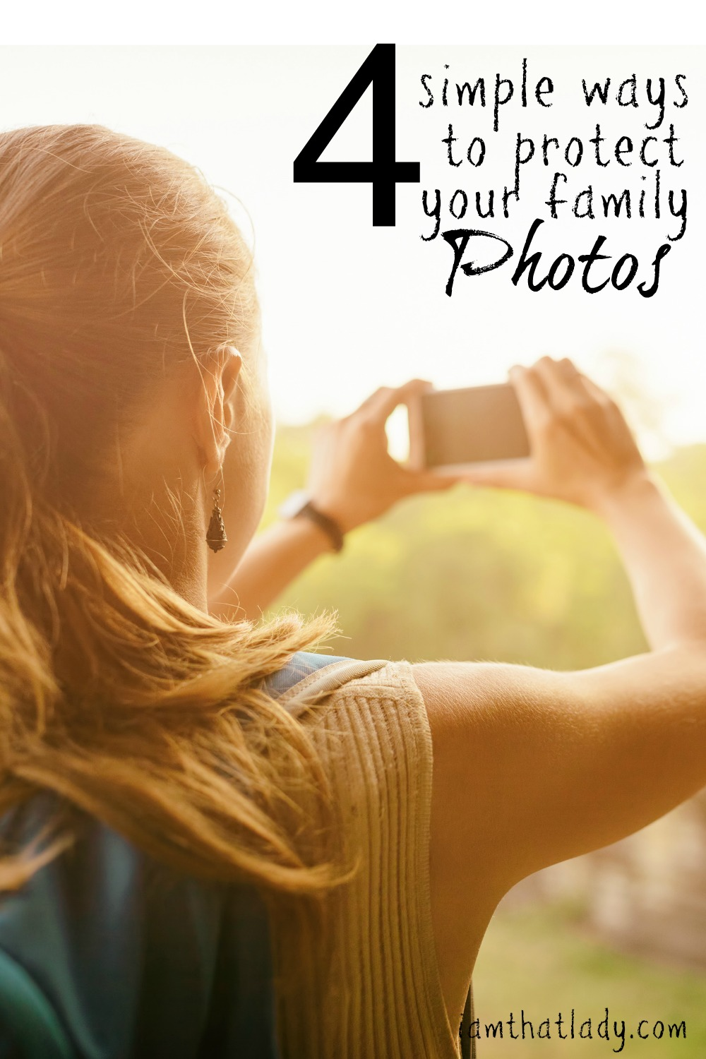 One of my friends just lost all her family pictures from the past 10 years, because she didn't back them up. Here are 4 simple ways to protect your pictures, so that doesn't happen to you. I am using the Sandisk iExpand - save $50 with this coupon https://goo.gl/0hMiiw AD