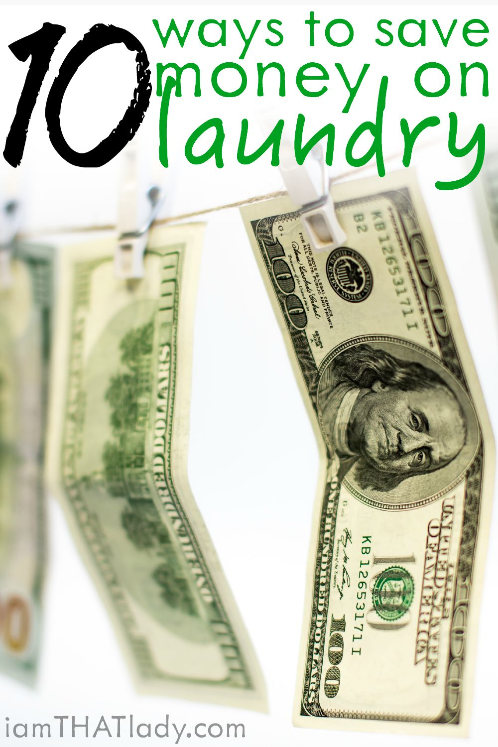 Do you realize that doing laundry can get expensive? We don't usually think of it this way, but it is! Here are 10 Ways to Save Money on Laundry!