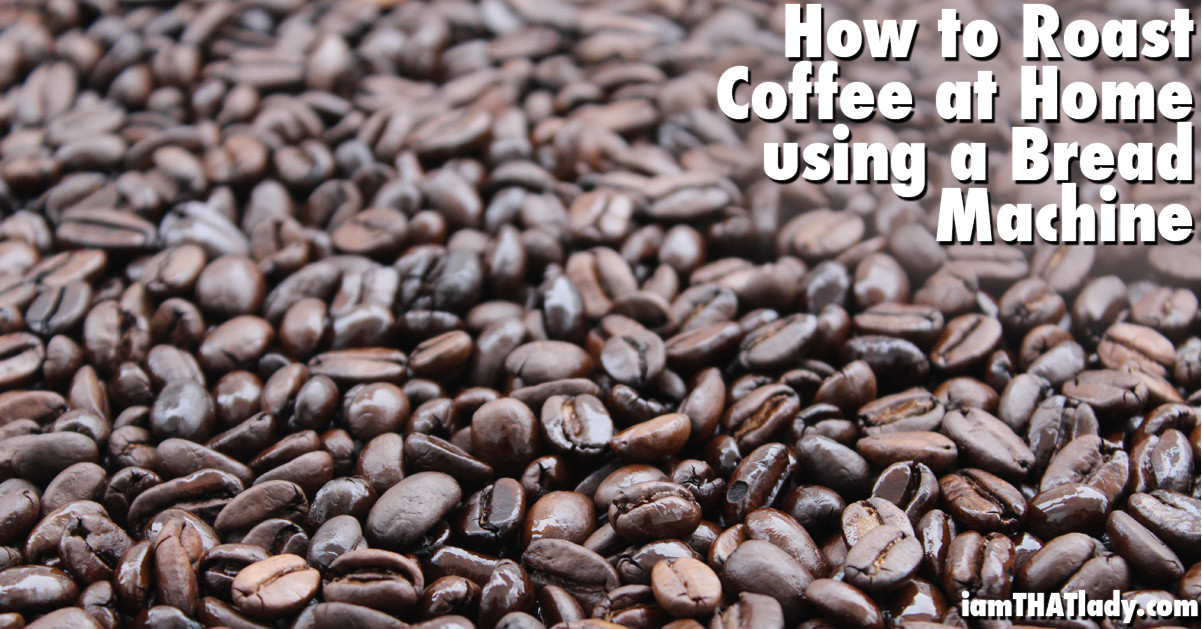 How to Roast Coffee at home using a bread machine FB