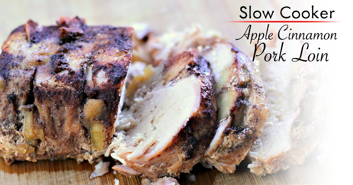 This Apple Cinnamon Pork Loin is OUT OF THIS WORLD! Perfect for fall cooking with fresh apples! Put this in your crockpot today! FB