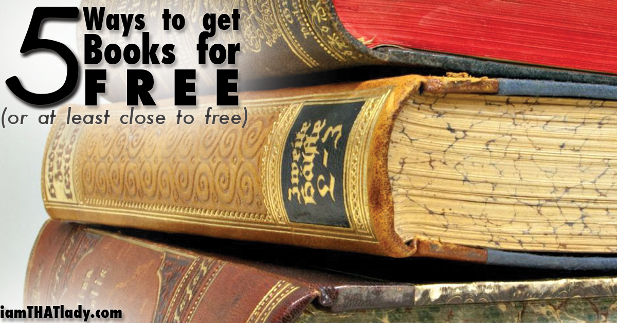 5 Ways to get books for free