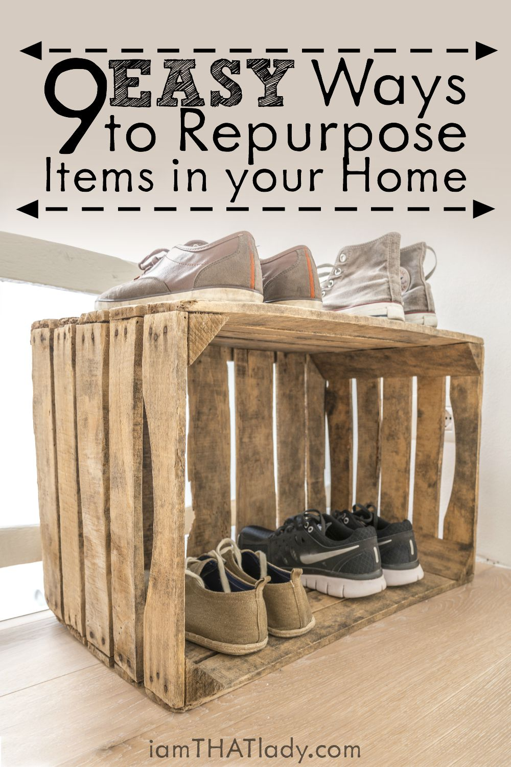 Looking for some creative ways to save money How about repurposing items in your own home! Here are 9 ways.