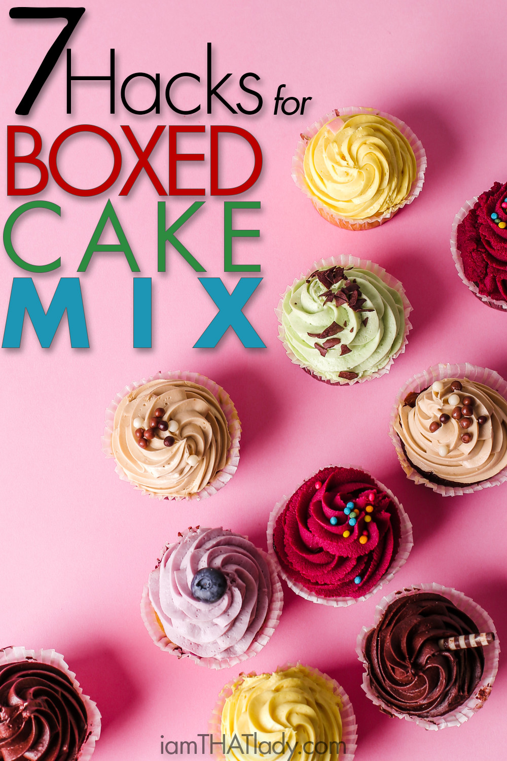 You have got to check out these 7 hacks to dress up boring old boxed cake mix! No one will ever know!