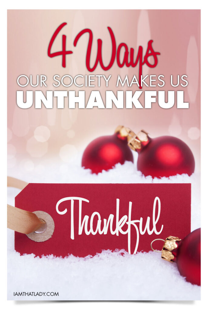 Am I the only one who finds a terrible irony with Thanksgiving and the shopping season? Shopping for gifts certainly isn't bad, but we have to be careful in our hearts. It is SOOO easy to become unthankful and ungrateful during this season. Here is how to break that cycle.