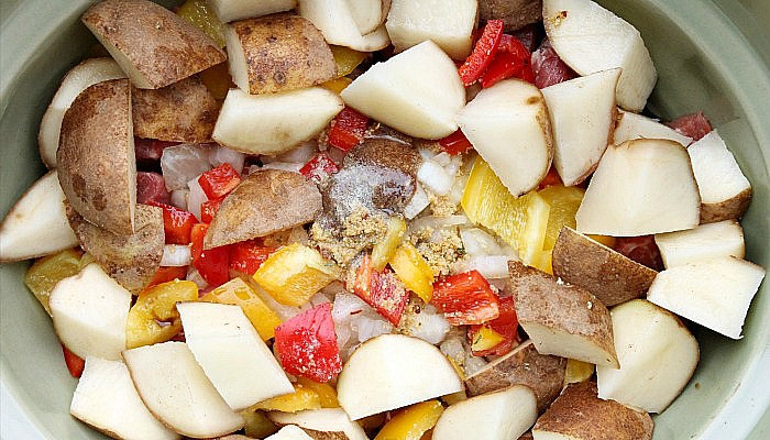bell pepper beef and potatoes slow cooker
