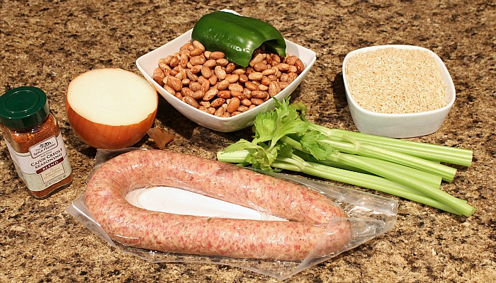 Cajun Beans and Rice Ingredients