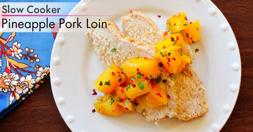 Pineapple pork loin FB