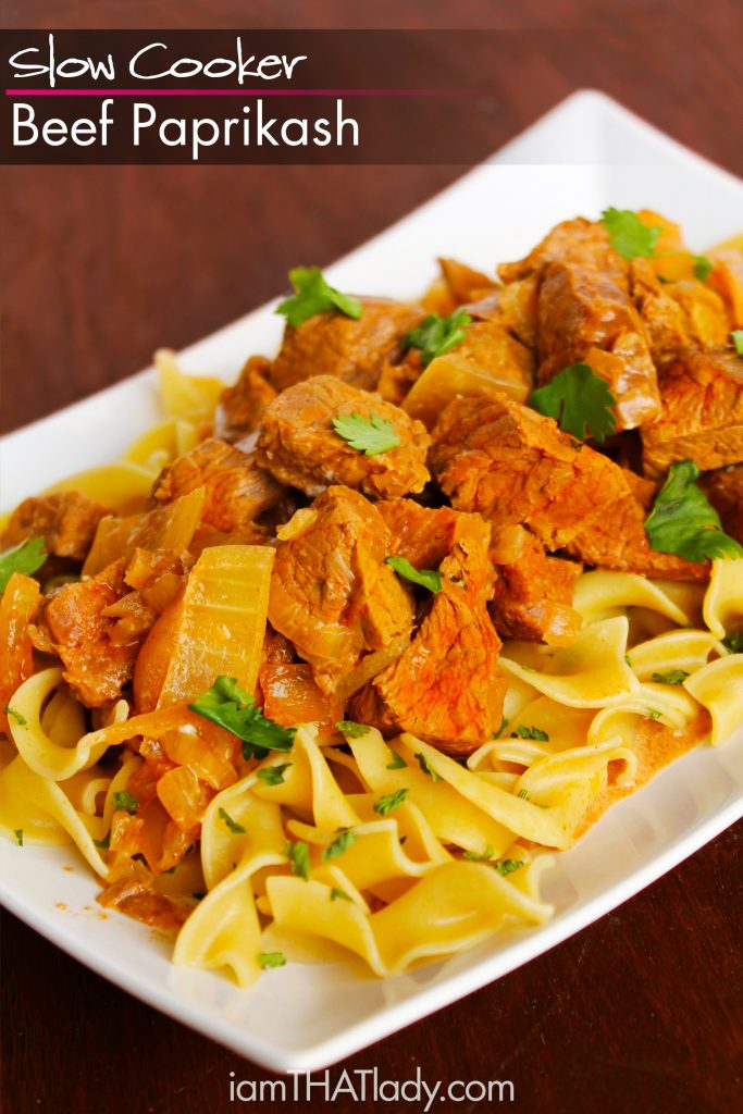 Hearty and PACKED with flavor - this Slow Cooker Beef Paprikash will definitely be a family favorite!