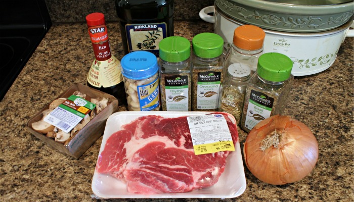 Italian Pot Roast Ingredients