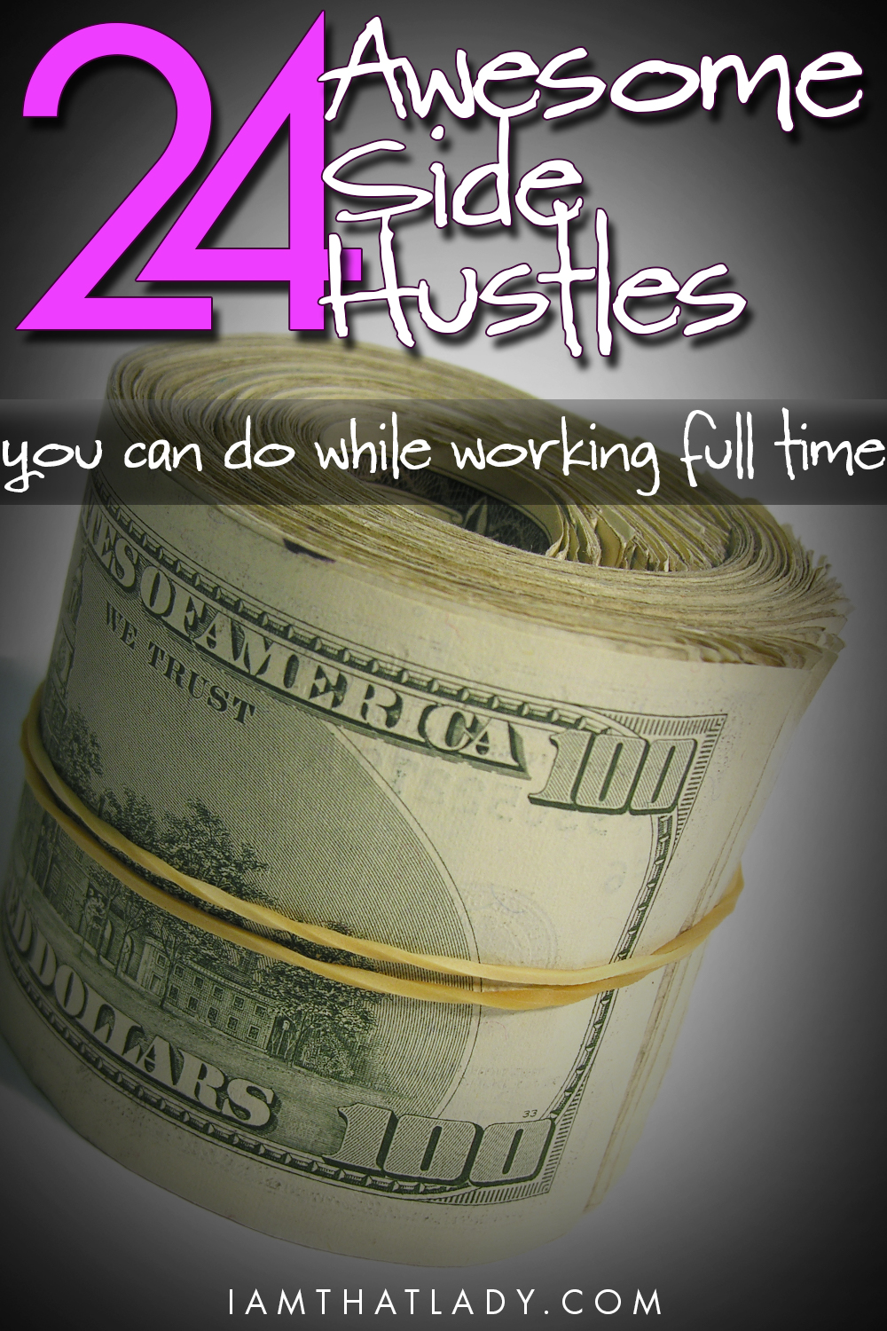 Are you looking for a way to make some extra cash without having to get a second 'real' job?  Here is a list of 24 side hustles that you can do while working